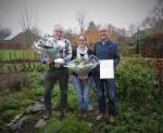 VNMH Natuurprijs 2017 voor Pieter Denissen, Kim van Korven en Martin van Mol.
